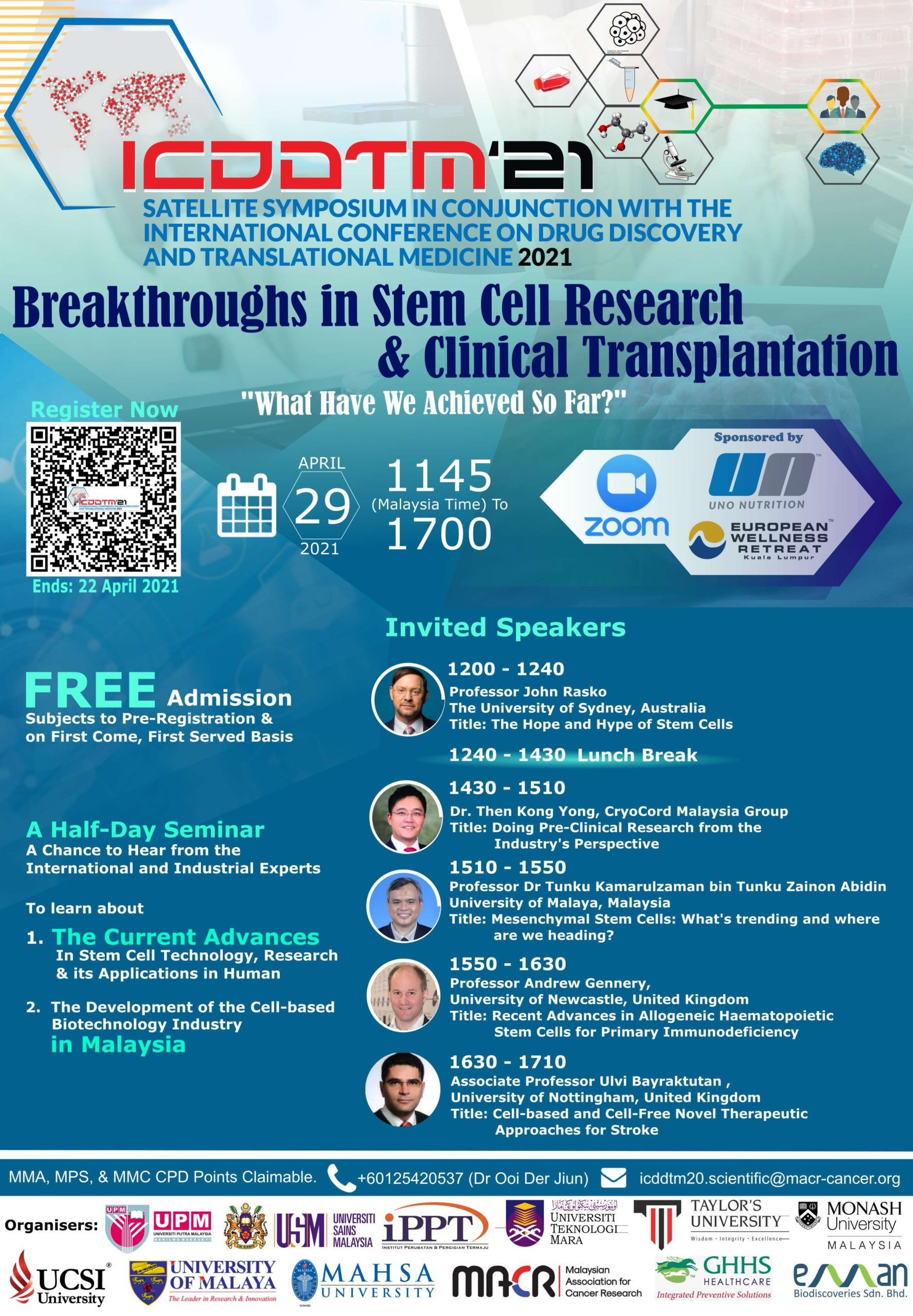 29th April 2021: Breakthrough in Stem Cell Research & Clinical Transplantation - What We Have Achieved So Far?