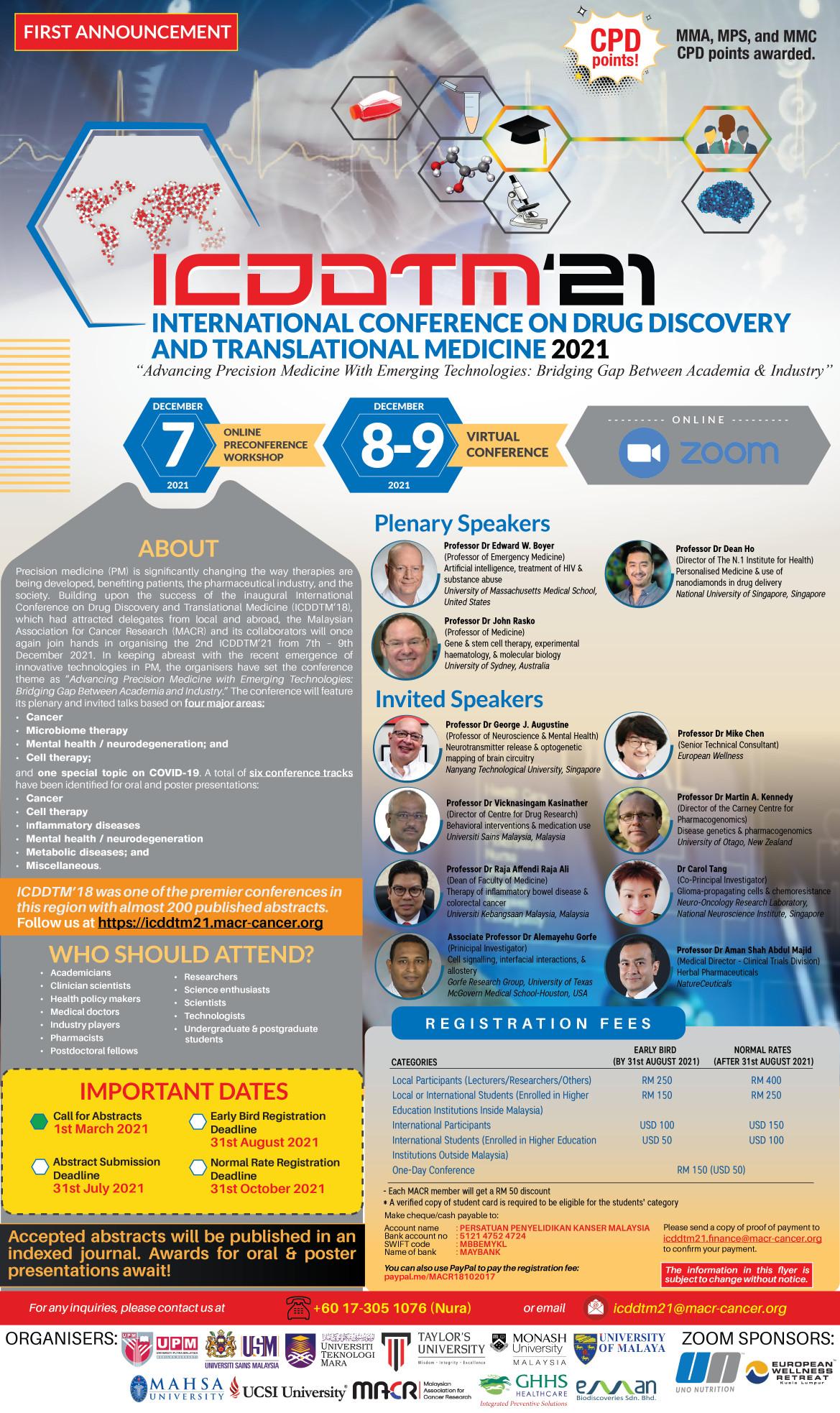 ICDDTM21 1st Announcement